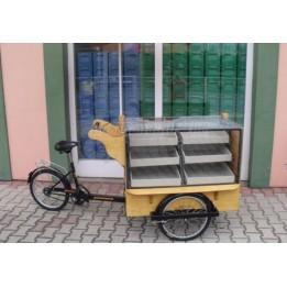Különleges háromkerekű kerékpár használt és uj kivitelezése