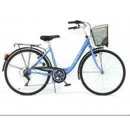 Neuzer GTX 6 sebességes városi bicikli kosárral
