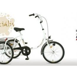 Háromkerekű elektromos camping bicikli új elektronikával